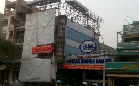Mặt Dựng Alu Chữ Mica Văn Phòng Công Ty Nhựa Bình Minh