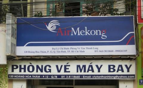 Làm Hộp Đèn Quảng Cáo Đại Lý, Phòng Vé Của Hãng Hàng Không Air Mekong