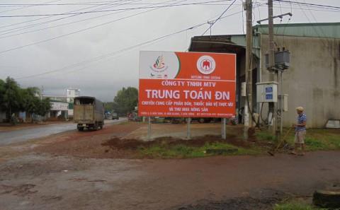 Chuỗi Bảng Hiệu Tôn Dán Decal Đại Lý Phân Bón Tại Bình Thuận