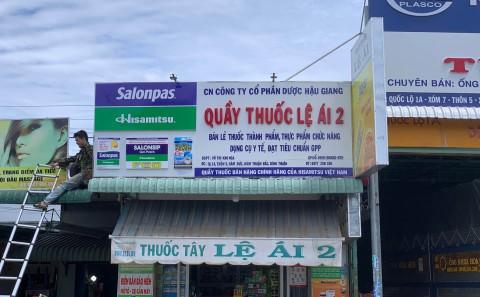 Làm Bảng Hiệu Alu Chữ Nổi Mica Nhà Thuốc Tây Tại Bình Thuận Của Cty Dược Phẩm Hisamitsu VN