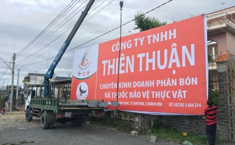 Thi Công Pano Quảng Cáo Nhà Phân Phối Phân Bón Thiên Thuận